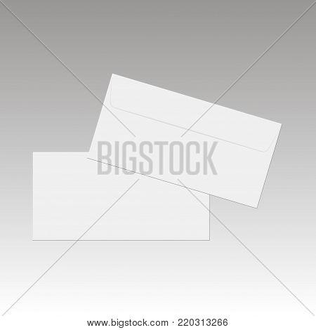 Blank paper envelopes for your design. Vector envelopes template