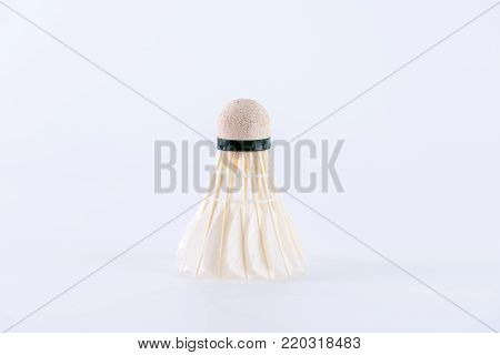 Badminton shuttle cock on white background. Sports and Activity concept.
