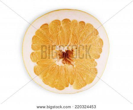 Pamela Fruit On White Background Fruit, Pamela, Green, Yellow, White, Background, Circle,