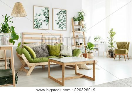 Floral Living Room With Posters