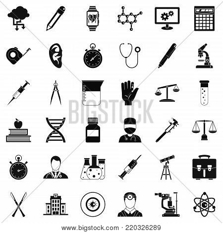 Lab icons set. Simple style of 36 lab vector icons for web isolated on white background