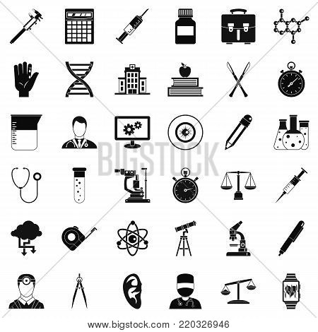 Experiment icons set. Simple style of 36 experiment vector icons for web isolated on white background