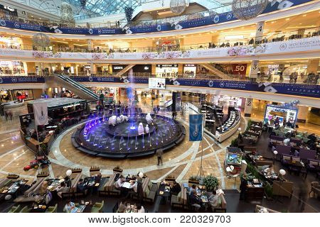 Shopping center AfiMall City, Dezember 28, 2017 in Moscow, Russia