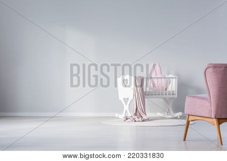 Empty Wall In Baby's Room