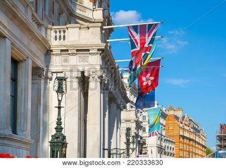 London, UK - August 25, 2017: Mandarin Oriental hotel near Harrods, Knightsbridge