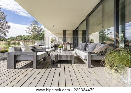 Terrace With Garden Furniture