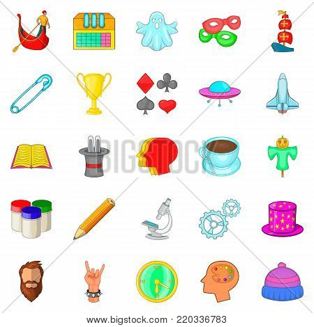 Scouting icons set. Cartoon set of 25 scouting vector icons for web isolated on white background