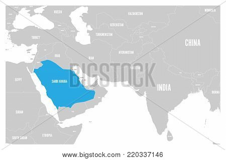 Saudi Arabia Blue Vector & Photo (Free Trial) | Bigstock