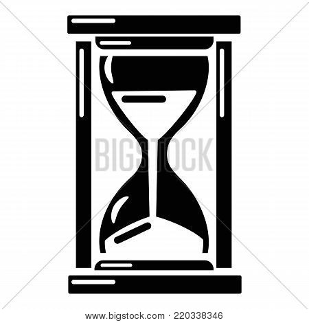 Hourglass icon. Simple illustration of hourglass vector icon for web.