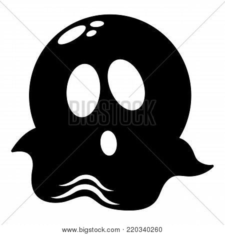 Ghost icon. Simple illustration of ghost vector icon for web