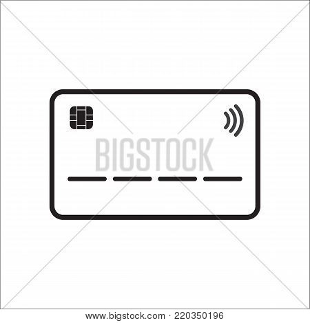 Credit card icon contactless concept vector illustration line