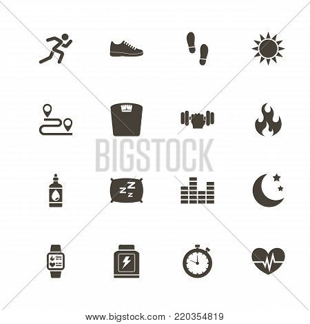 Activity Tracking icons. Perfect black pictogram on white background. Flat simple vector icon.