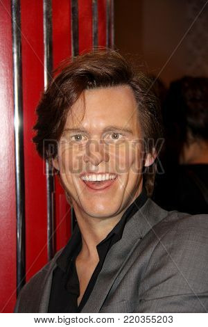 London, - United Kingdom, 08, July 2014. Madame Tussaud's in London.  Waxwork statue of Jim Carrey.