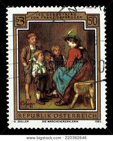 AUSTRIA - CIRCA 1985: a stamp printed in  Austria shows