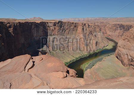 Horse Shoe Bend. Colorado River. Geology.  Utah.  . USA.