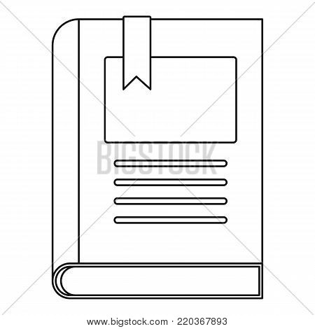 Story book icon. Outline illustration of story book vector icon for web