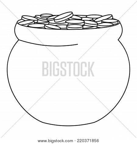 Potty with coin icon. Outline illustration of potty with coin vector icon for web