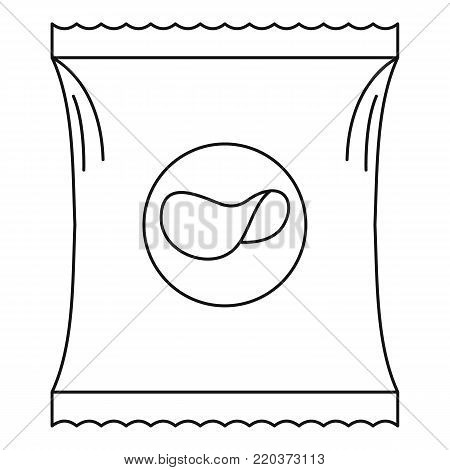 Potato chip icon. Outline illustration of potato chip vector icon for web
