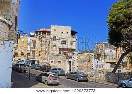 HAIFA, ISRAEL - SEPTEMBER 18, 2017: On the sreet of Haifa, Israel, Middle East