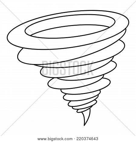 Tornado icon. Outline illustration of tornado vector icon for web