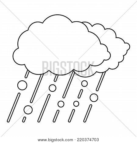 Snow and rain icon. Outline illustration of snow and rain vector icon for web