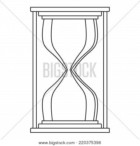 Hourglass icon. Outline illustration of hourglass vector icon for web
