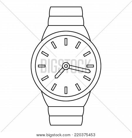 Wrist watch icon. Outline illustration of wrist watch vector icon for web