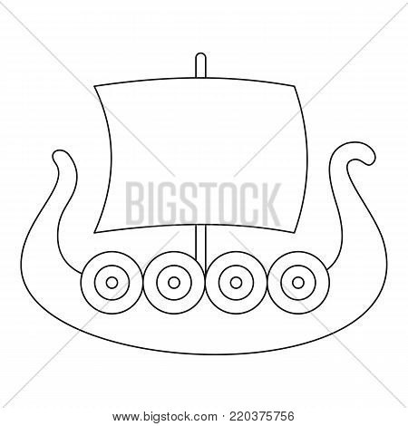 Ancient boat icon. Outline illustration of ancient boat vector icon for web