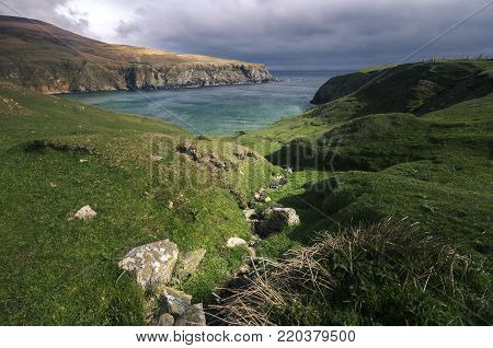 The Silver Strand is a horse-shoe shaped beach situated at Malin Beg, near Glencolmcille, in south-west County Donegal, Ireland.