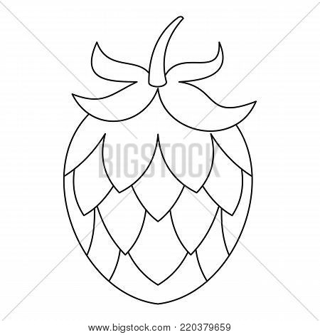 Hop icon. Outline illustration of hop vector icon for web