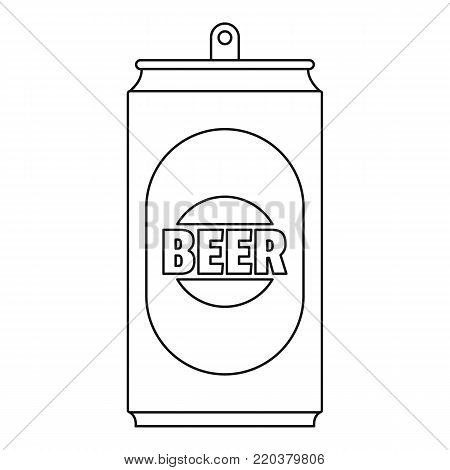 Beer can icon. Outline illustration of beer can vector icon for web