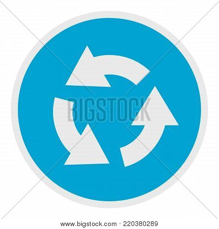 Circular arrow icon. Flat illustration of circular arrow vector icon for web.