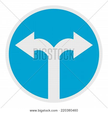 Road turn icon. Flat illustration of road turn vector icon for web.
