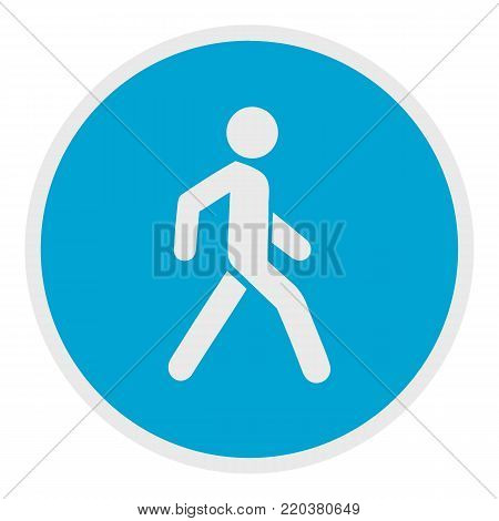 Walking man icon. Flat illustration of walking man vector icon for web.