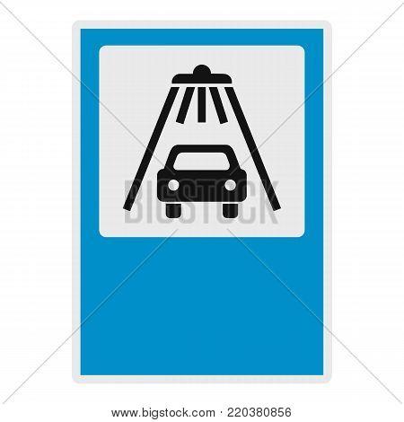 Car wash icon. Flat illustration of car wash vector icon for web.