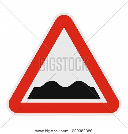Rough road icon. Flat illustration of rough road vector icon for web.