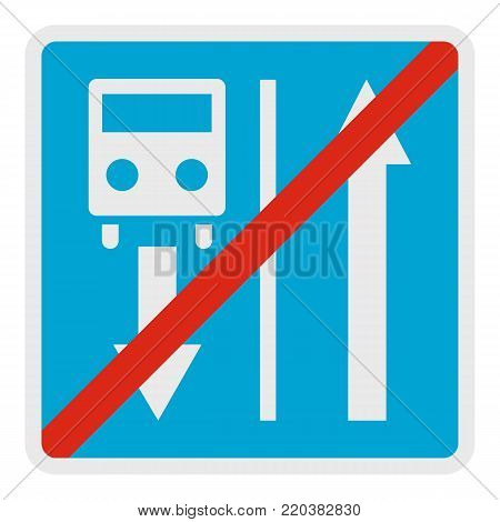 End road of route vehicle icon. Flat illustration of end road of route vehicle vector icon for web.