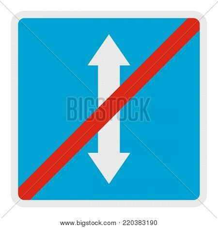 End reverse motion icon. Flat illustration of end reverse motion vector icon for web.