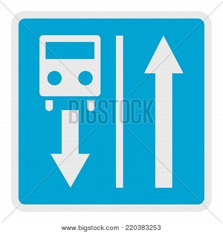 Road for route transport icon. Flat illustration of road for route transport vector icon for web.