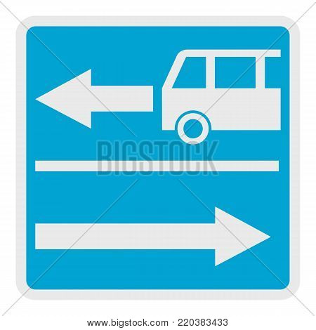 Road for route auto icon. Flat illustration of road for route auto vector icon for web.
