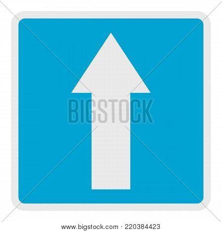Forward arrow icon. Flat illustration of forward arrow vector icon for web.