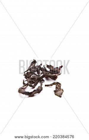 Black Old Tea Puer White Background studio quality