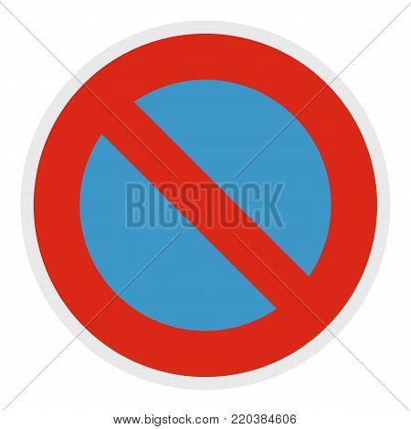 Not parking icon. Flat illustration of not parking vector icon for web.