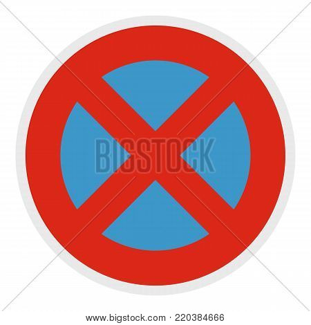 Stop prohibited icon. Flat illustration of stop prohibited vector icon for web.