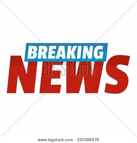 Breaking live news icon. Flat illustration of breaking live news vector icon for web.