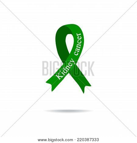 Cancer Ribbon. Kidney cancer. International Day of cancer. World Cancer Day. Vector illustration on isolated background.