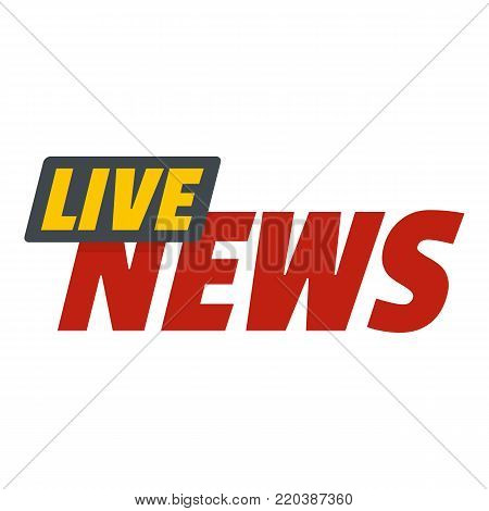 Live news on air icon. Flat illustration of live news on air vector icon for web.