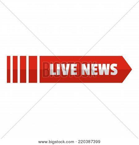 Live news arrow icon. Flat illustration of live news arrow vector icon for web.