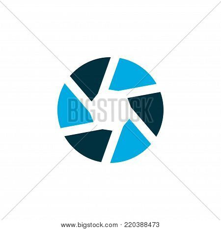 Shutter icon colored symbol. Premium quality isolated focus element in trendy style.