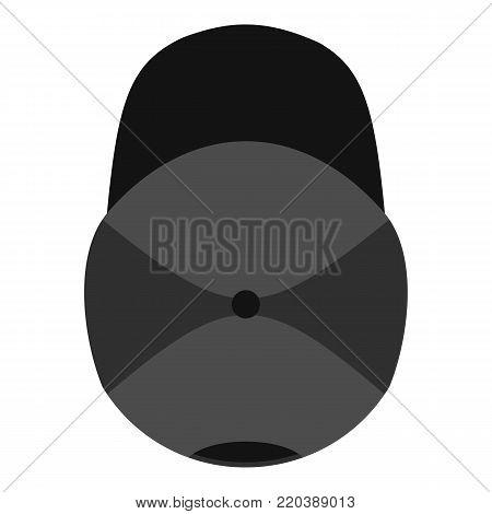 Baseball cap above icon. Flat illustration of baseball cap above vector icon for web.